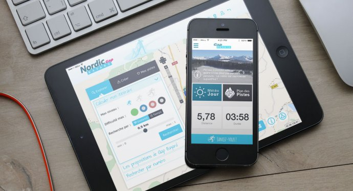 Application mobile pour le domain de ski de fond : Drupal, iOS, Android et Windows Phone